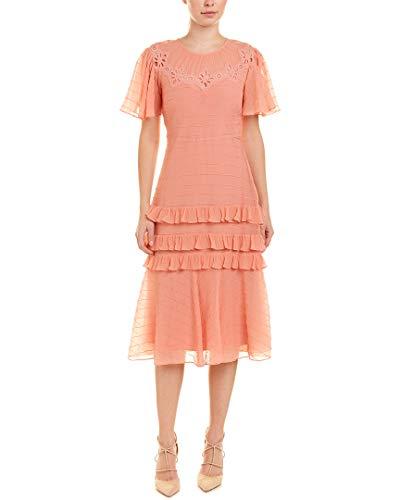 Rebecca Taylor Womens Pinwheel Silk-Blend Midi Dress, 4