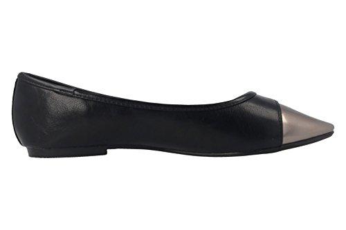 Andres Machado Damen Ballerinas - Schwarz Schuhe in Übergrößen