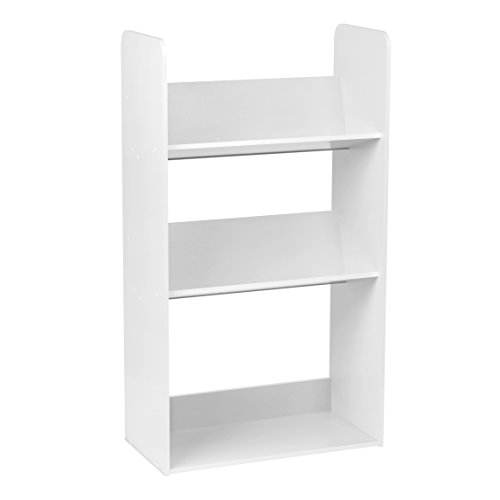 IRIS 3-Tier Tilted Shelf Book Rack, White