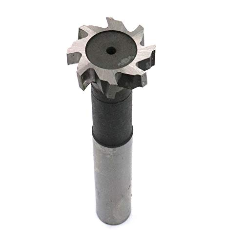 Yootop 30mm Dia T Slot End Mill 8 Flutes Milling Cutter HSS Straight Shank 10mm Depth Power Cutting Tool