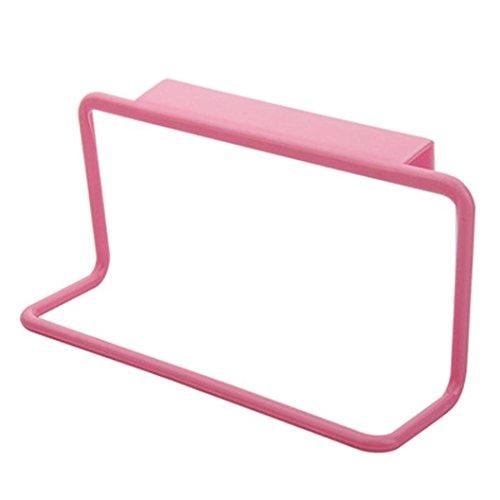 Price comparison product image Ninasill   Towel Rack Hanging Holder Organizer Bathroom Kitchen Cabinet Cupboard Hanger (Pink)