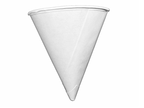 Genpak Harvest 4oz Compostable Paper Cone Water Cup - Recyclable, Rolled Rim 800ct. W4F {Vasos de Agua Conicos} (4 Boxes (800ct))