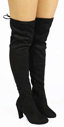 Wild Diva AMAYA-01 Thigh High Stretch Heeled Boots