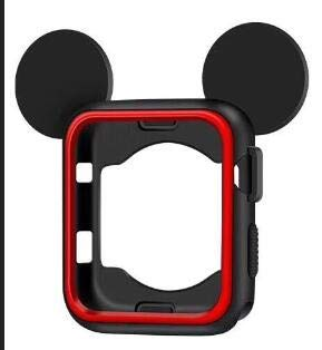 Price comparison product image LingStore Silicone Cover Frame Soft Rubber Protective Mickey Case for Apple Watch Cartoon Cover for iwatch 3 / 2 / 1 38mm 42MM