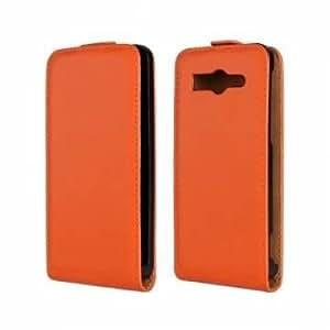 Cuero del tirón del caso de la cubierta protectora para el Huawei G520 G525 Smartphone ( Color: Naranja )