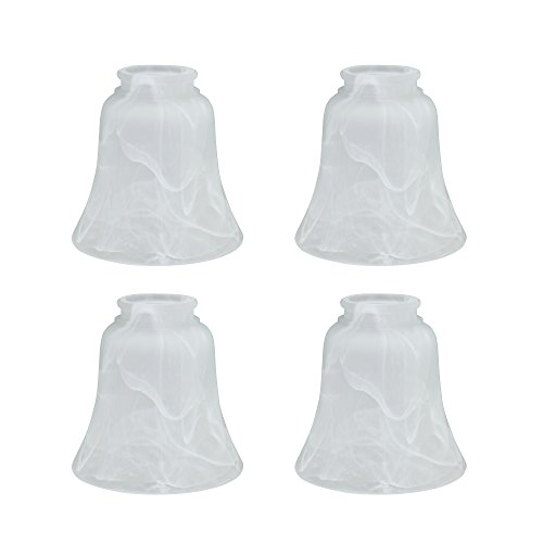 (Aspen Creative 23030-4 Transitional Style Replacement Bell Shaped Glass Shade with 2 1/8