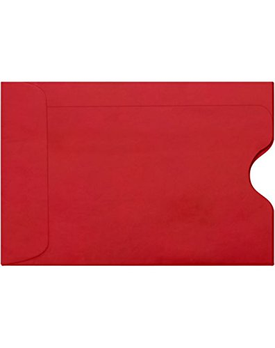 (Credit Card Sleeve (2 3/8 x 3 1/2) - Ruby Red (50 Qty.) | Perfect for The Holidays, Gift Cards, Credit Cards, Debit Cards, ID Cards and More! | LUX-1801-18-50)