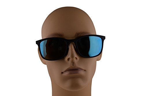 4ac77443840 Prada PS01TS Sunglasses Black Rubber w Light Green Mirror Blue 56mm ...