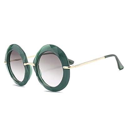 NEW Oversized Round Sunglasses Women Vintage Green Frame Female Sun Glasses Shades OM567