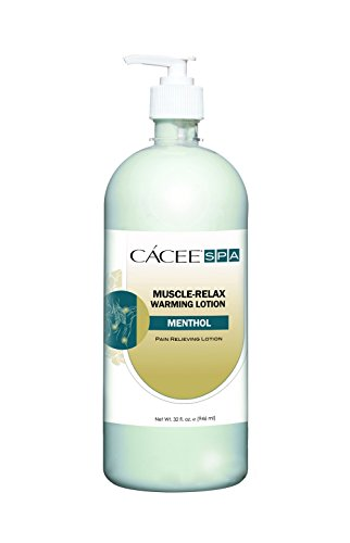 Massage Lotion For Muscle Warming Therapy w/ Pump, Pain Relief Hot Cream For Muscle, Back, Body Therapy - Cacee (32oz)