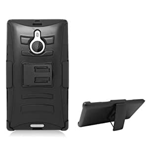 Cerhinu CYstore Dual Layer Armor Cover Case with Holster For Nokia Lumia 1520 (Include a CYstore Stylus Pen) - Black/Black...