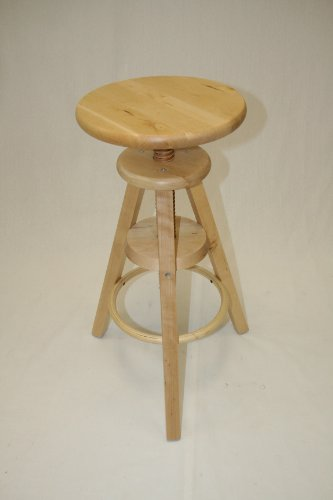 eHemco Wooden Adjustable Stool in Natural(24