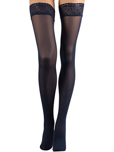 b3bd2f1d5 Veneziana THIGH HIGH Opaque Lace Top Silicone Stockings - Buy Online ...