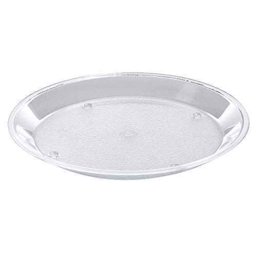 (Cal-Mil Round Clear Acrylic Dry Sampling Tray - 12