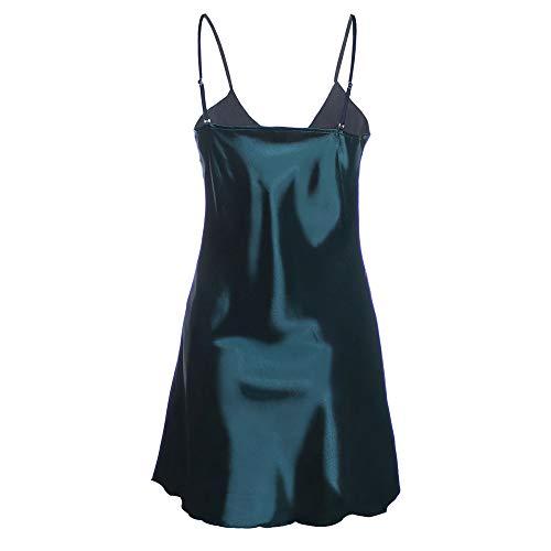 Dentelle De Coquin Bretelle Femme Ouverte Robe Lingerie Angelof Nuisette Dessous Coquine Sexy Vert Vêtements Erotique XFYaqx