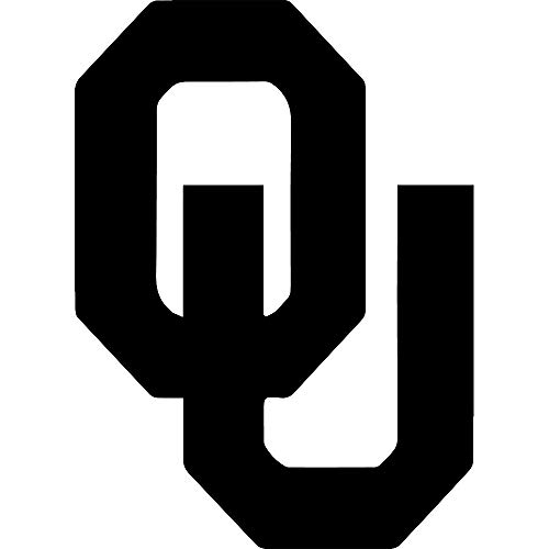 ANGDEST Oklahoma Sooners (Black) (Set of 2) Premium Waterproof Vinyl Decal Stickers for Laptop Phone Accessory Helmet Car Window Bumper Mug Tuber Cup Door Wall Decoration