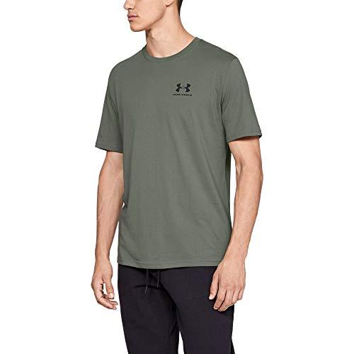 Under Armour Men's Sportstyle Left Chest T-Shirt, Moss Green (492)/Black, Small ()
