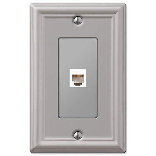 Chelsea Brushed Nickel 1 Phone Jack with - Phone Silver Faceplates