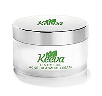 Keeva Organics Acne Treatment Cream With Secret TEA TREE OIL Formula -  Perfect For Acne