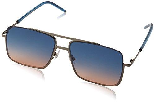 Marc Jacobs Men's Marc35s Rectangular Sunglasses, Dark Ruthenium/Blue Orange, 55 mm