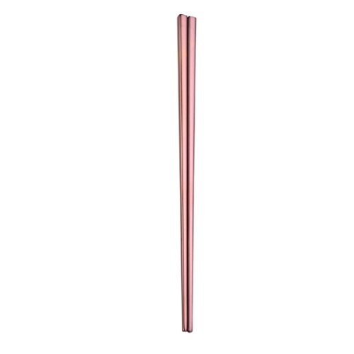 YJYdada 1Pair Stainless Steel Tableware Colorful Length 23cm Chopsticks (Rose Gold) from YJYdada