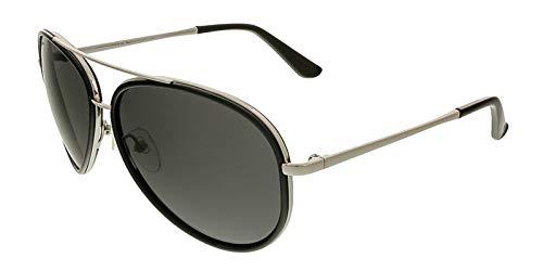 Salvatore Ferragamo Mens Designer Non-Polarized Aviator Sunglasses Black