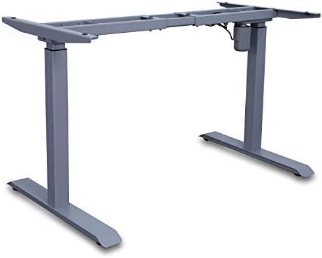Cheap AITERMINAL Electric Standing Desk Frame Single Motor Adjustable Motorized Stand Up Desk-Gray Frame Only home office desk for sale