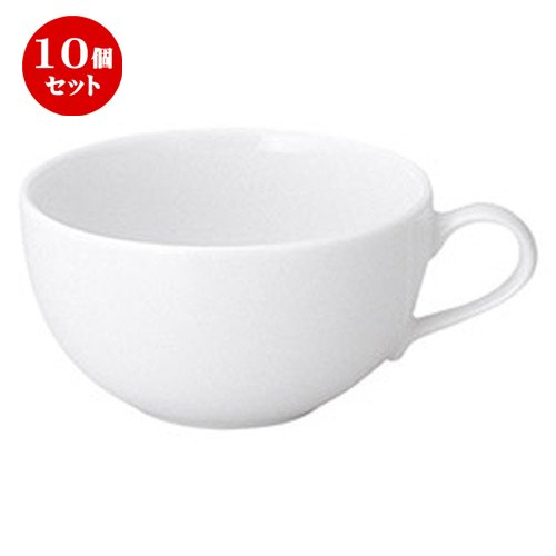 10個セット プラージュ 片手スープカップ [ L 12.6 x S 10 x H 5.3cm ] 【 スープカップ 】 【 飲食店 レストラン ホテル カフェ 洋食器 業務用 】 B07BJNKKJV