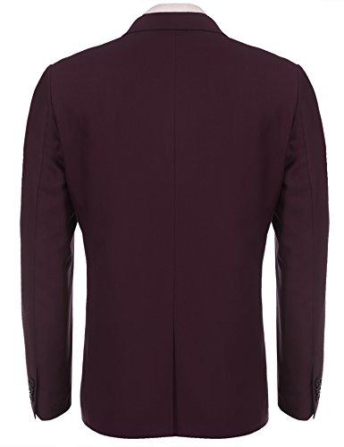 Hasuit Men's Casual One Button Slim Fit Stylish Blazer Coats Jackets Dress Suit by Hasuit (Image #3)