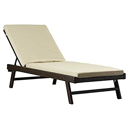 Amazon Com Beachcrest Home Resin Wicker Base Brown Chaise Lounge
