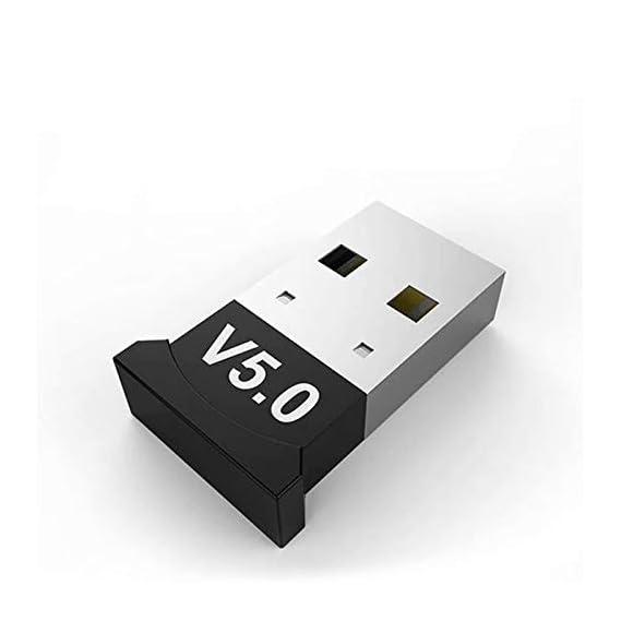 Richvolt USB Bluetooth 5.0 Adapter for PC Win10/8.1/8/7/XP/Vista, Desktop Computer Bluetooth Dongle Receiver/Transmitter