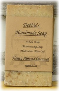 Debbie's Honey Almond Oatmeal Handmade Soap (4 bars)