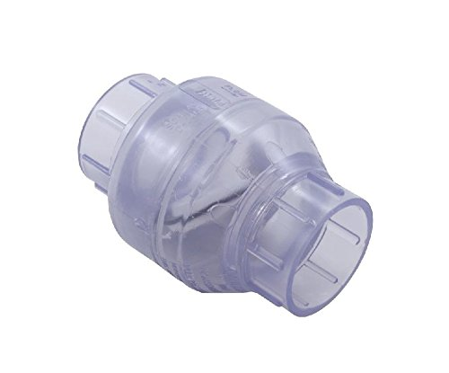 Swimming Pool Plumbing Valves : ″ clear swing check valve for pvc swimming pool spa