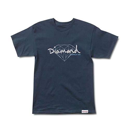 Diamond Supply Co Brilliant Script T-Shirt Navy by Diamond Supply Co