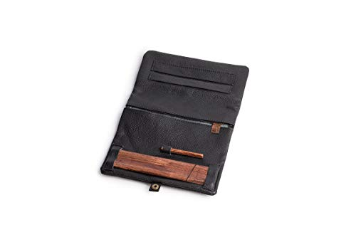 Joint Rolling Pouches,High-Quality Leather – Naturally Keeps Tobacco Moist,King-Size Paper Holder Wooden Rolling Base,Quality Craftsmanship Stylish and Sturdy (Classic) by Original Kavatza (Image #1)