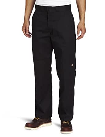 Dickies Men's Relaxed Straight Fit Double Knee Work Pant, Black, 30x30