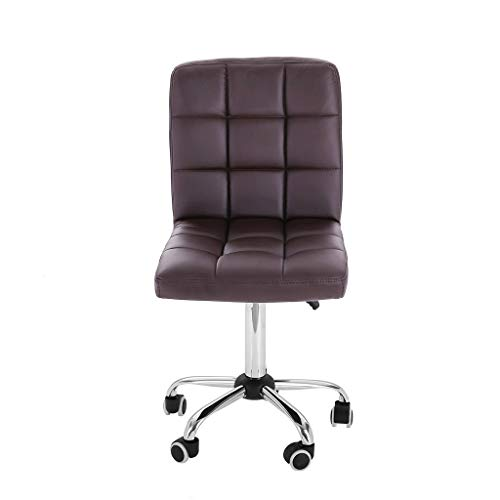 (Rusilay Household Fashion Leisure Swivel Chair Office Office Chair Staff with Liftable Work Chair, Beauty Salon Chair (Brown))