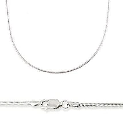 """New Authentic 18K White Gold Necklace Perfect Milan Snake Link Chain 17.7/""""L"""