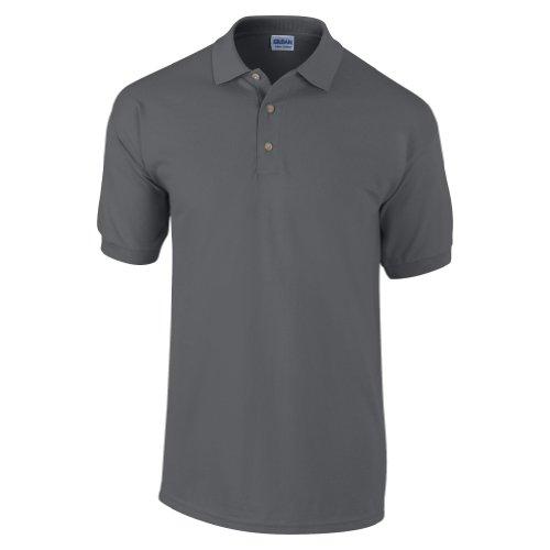 - Gildan Mens Ultra Cotton Pique Polo Shirt (L) (Dark Heather)