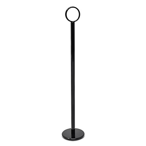 GrayBunny GB-6790BL2 Place Card Holder 12 in Tall, 12 pack, Black, Table Cardholder Tabletop Menu Holder Harp-Clip Number Holder Recipe Holder Reserved Card Holder, For Restaurants, Weddings, Banquets by Gray Bunny