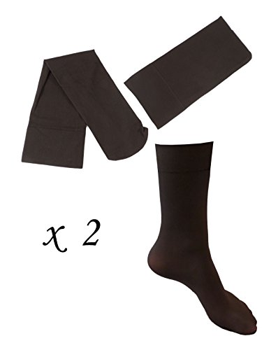 2 Pairs of Women's Talbots Brown Microfiber Boot Trouser Dress Socks - ()