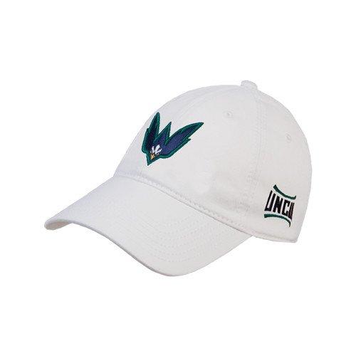 UNCウィルミントンホワイトTwill Unstructured Low Profile帽子' Seahawk Wマーク'   B0117O689O