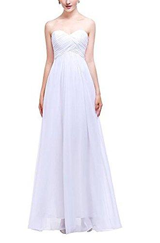Beauty White Women's Dress Long Chiffon Gown Bridesmaid Evening AK Udx8qd
