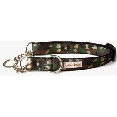 "Camo Martingale Dog Collar Size: 1"" Medium"