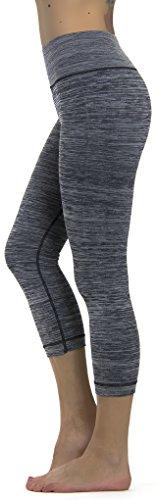 Prolific Health Fitness Power Flex Yoga Pants Leggings   All Colors   Xs   Xxxl  Large  Gray Capri