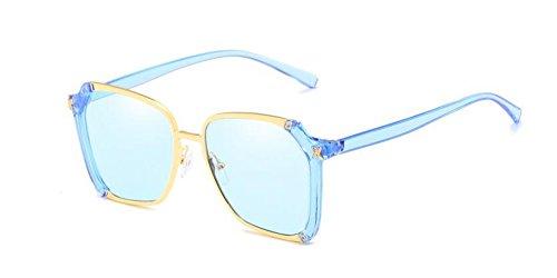 Film lunettes cercle rond soleil de style métallique Bleu retro vintage en polarisées du Lennon inspirées qUOq4