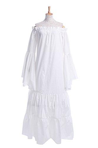 Nuoqi® Femmes Retro Manches longues longue Robe Beer bar serveuse desservant servante médiévale Halloween costume Déguisements traditionnels Costumes (XL, GC204H)