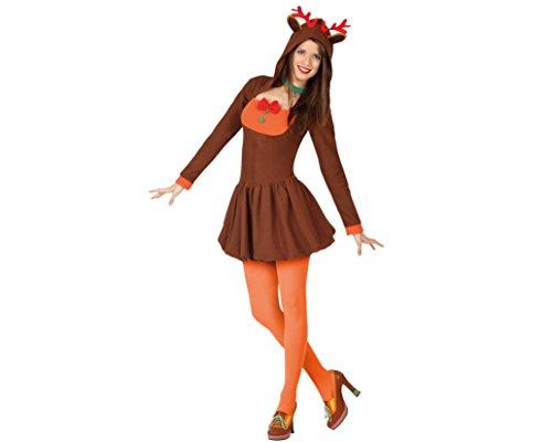Atosa-26933 Atosa-26933-Disfraz Reno Mujer Adulto-Talla Navidad ...