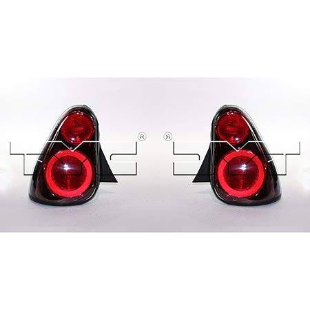olet Monte Carlo Tail Light Driver and Passenger Side Bulbs Included GM2800180 + GM2801180 - Replaces 10326670 ;combination lamp ()