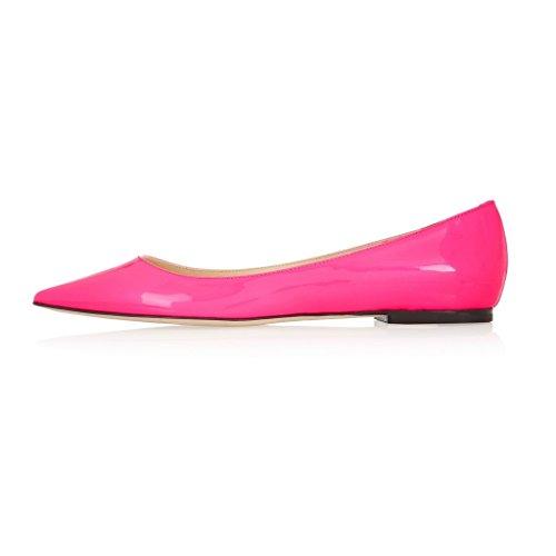 Ou Femme Noir Plat Confort Gold Pointu Bout Edefs Chaussures Femmes Beige Ballerines Pink 45wqZ1zxU